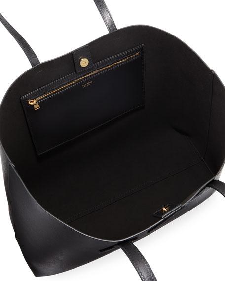 Medium T Saffiano Leather Tote Bag