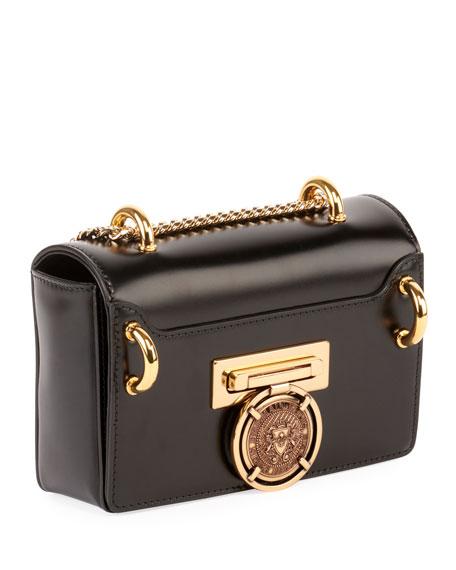 Balmain Baby Box Leather Crossbody Bag