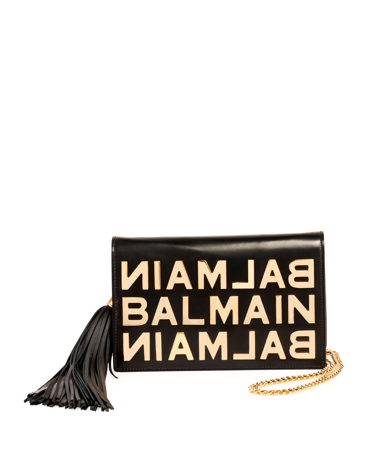 forefront of the times discount price best loved Logo Glace Cuir Pochette Clutch Bag