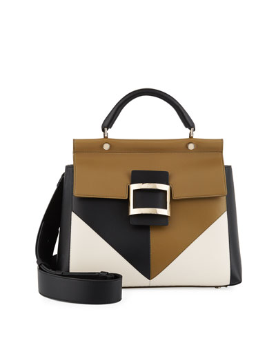 Viv Cabas Patchwork Satchel Bag