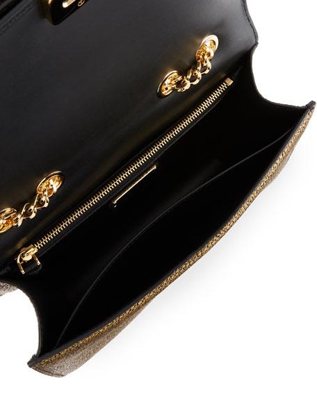 Vara Rainbow Medium Speckled Metallic Shoulder Bag