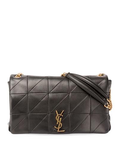 Jamie Monogram YSL Giant Full-Flap Chain Shoulder Bag