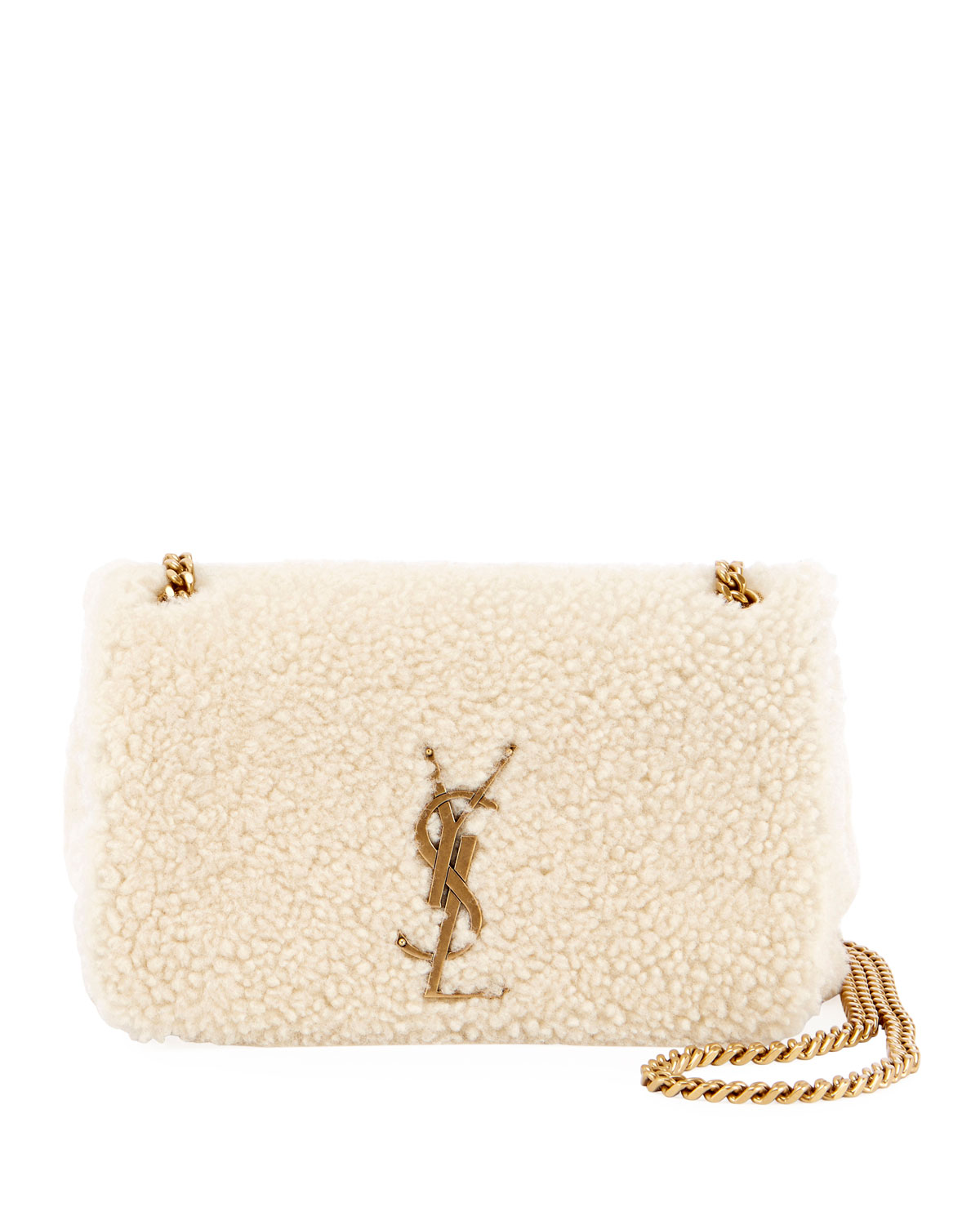 c96fb370504a Saint Laurent Kate Monogram YSL Small Shearling Crossbody Bag ...