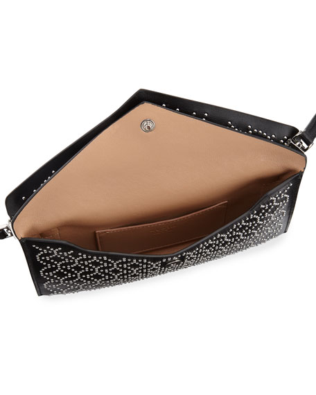 Studded Dual-Flap Crossbody Bag