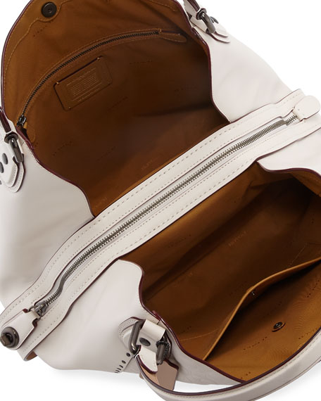 Edie 42 Signature Leather Hobo Bag