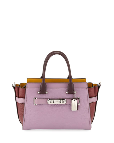 Coach 1941 Swagger 27 Colorblock Pebbled Leather Tote