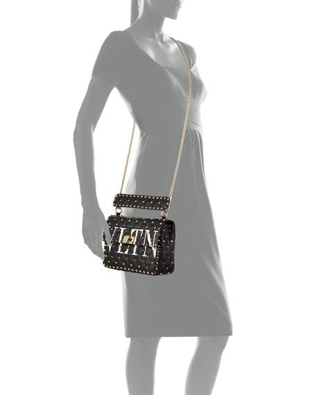 VLTN Spike.It Quilted Leather Shoulder Bag