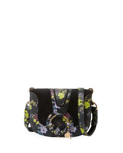 Hana Small Leather/Suede Crossbody Bag