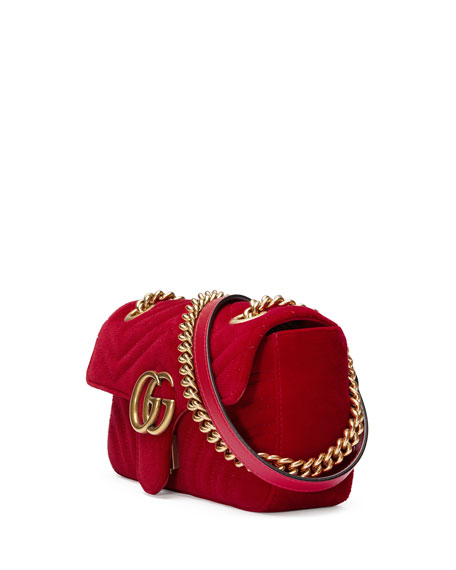 GG Marmont Mini Velvet Bag