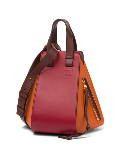 Hammock Small Colorblock Leather Satchel Bag