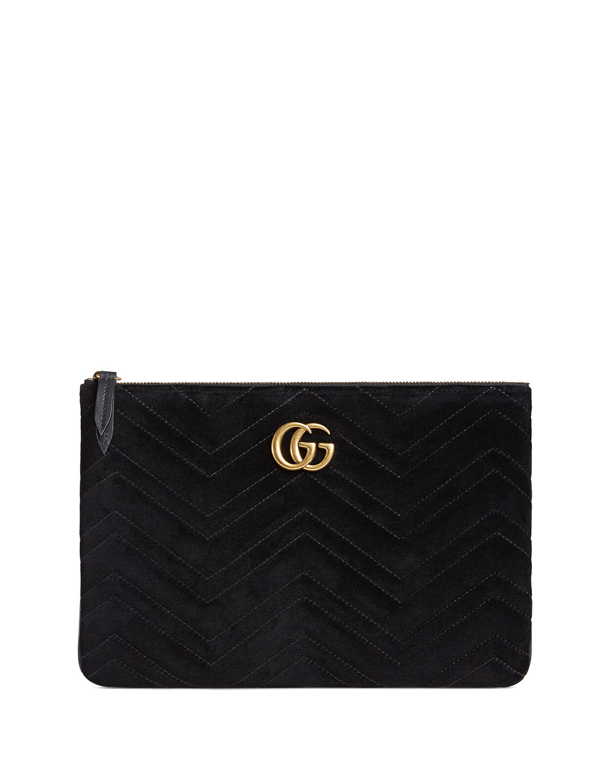 bc5a6a97bf2 Gucci GG Marmont Velvet Zip Pouch Bag