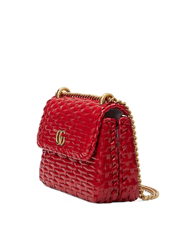95e701d3f Gucci Linea Cestino Mini Web Straw Shoulder Bag | Neiman Marcus