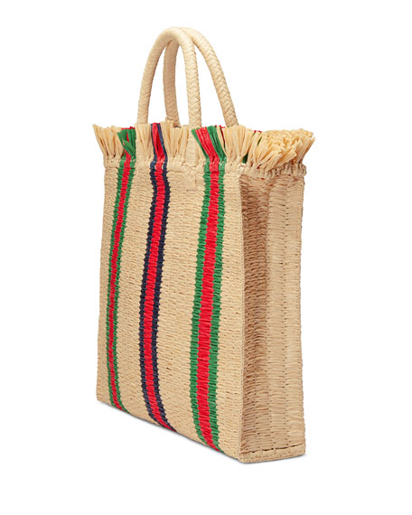 Linea Cestino Raffia Tote Bag