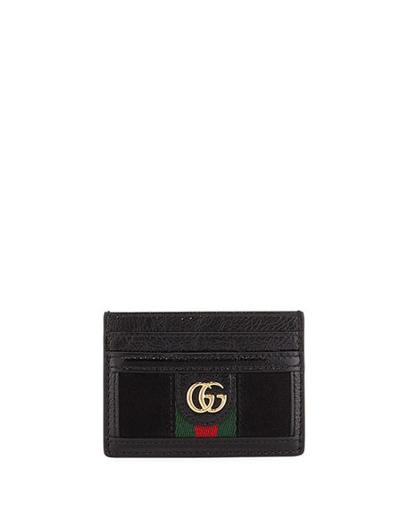 Gucci Bags Ophidia Suede Card Case