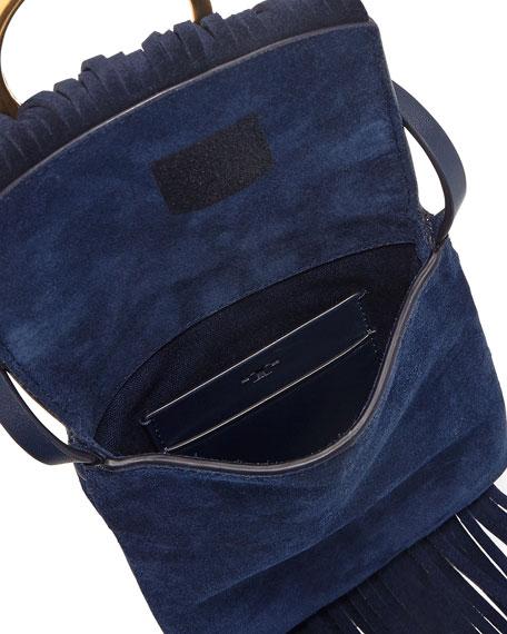 Farrah Fringe Suede Phone Crossbody Bag