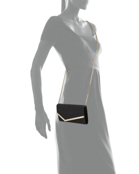 Jimmy Choo Emmie Fine Glitter Leather Clutch Bag