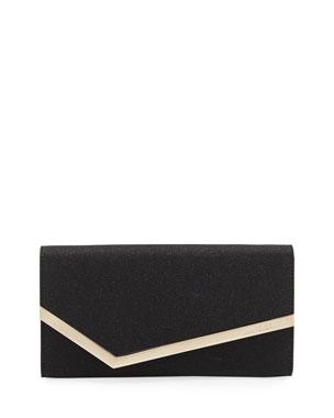 0aa80e0b795 Jimmy Choo Emmie Fine Glitter Leather Clutch Bag