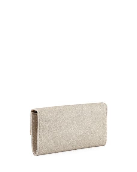 Jimmy Choo Emmie Dusty Glitter Clutch Bag