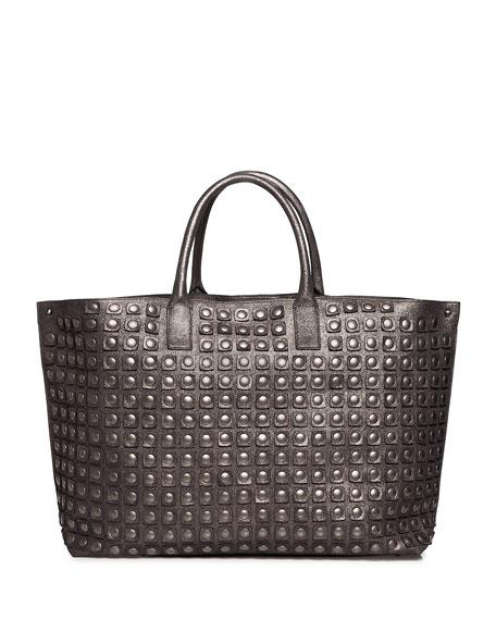 Ai Medium Grid-Studded Top-Handle Bag