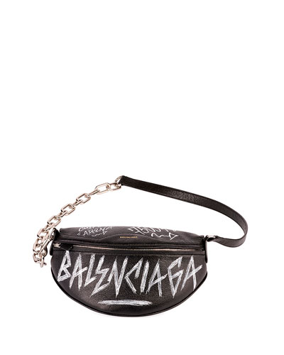 Graffiti-Print Fanny Belt Bag
