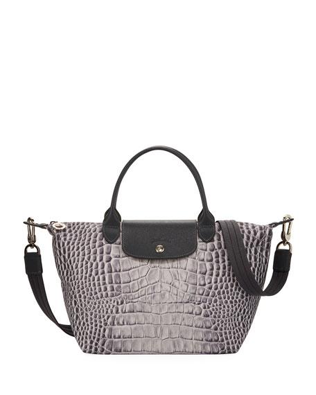 Longchamp Le Pliage Croc Small Handbag