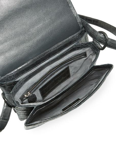 Astor V-Flap Crocodile Crossbody Bag