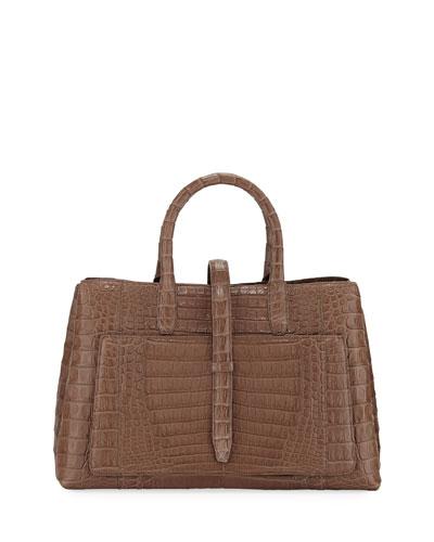 Astrid Medium Crocodile Tote Bag