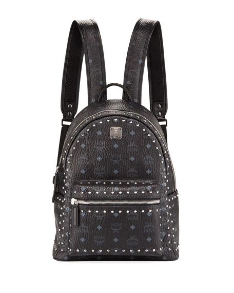 MCM Stark Outline Studs Convertible Visetos Backpack
