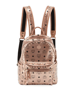 8a3597510642b1 MCM Stark Outline Studs Convertible Backpack