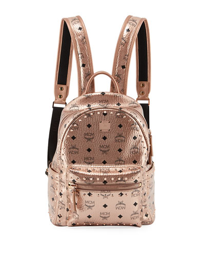 Mcm Stark Outline Studs Convertible Backpack