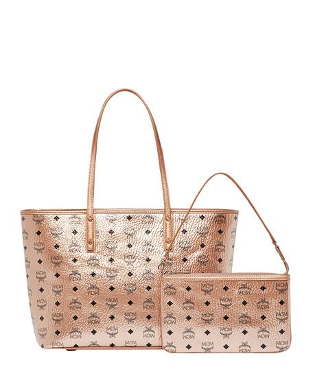 Anya Medium Visetos Zip Shopper Tote Bag