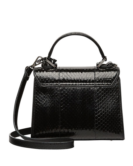Image 3 of 4: Neo Heritage Exotic Crystal Satchel Bag