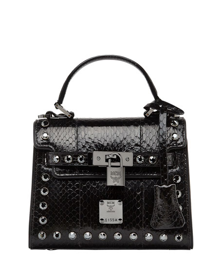 Image 1 of 4: Neo Heritage Exotic Crystal Satchel Bag