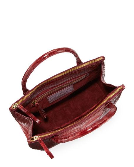 Nix Medium Ombre Crocodile Zip Tote Bag