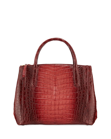 Nancy Gonzalez Nix Medium Ombre Crocodile Zip Tote