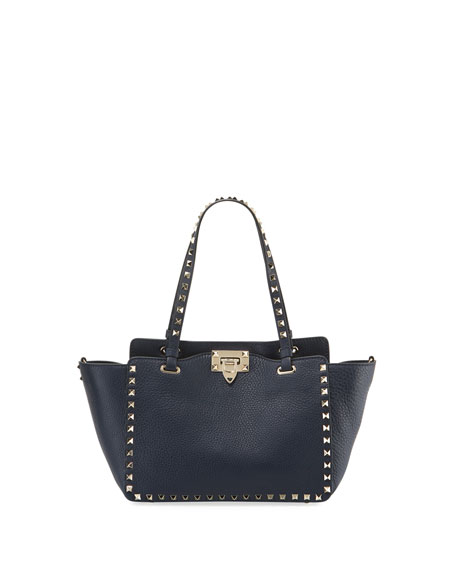 Rockstud Small Leather Tote Bag