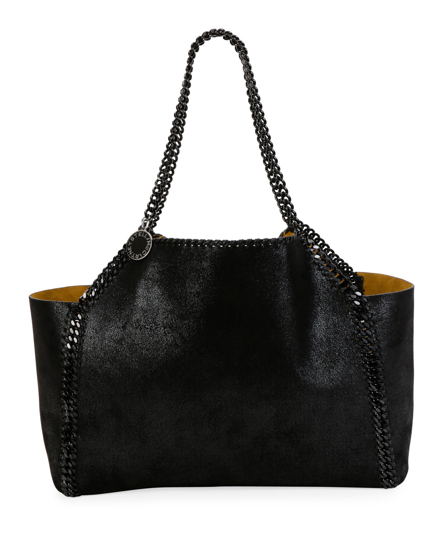 d47e2a4fc17a Stella McCartney Falabella Medium Reversible Tote Bag with Black Chain