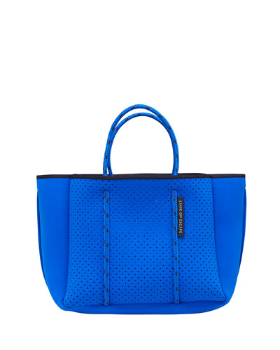 Petite Escape Perforated Tote Bag  Electric Blue