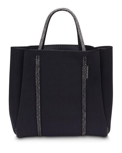 Cityscape Mark II Perforated Tote Bag  Black