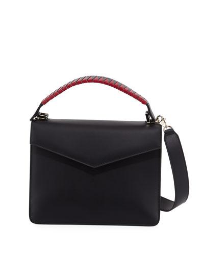 Pixie Geometric Leather Satchel Bag