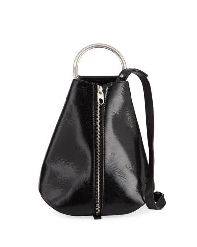 Vertical Zip Shiny Backpack