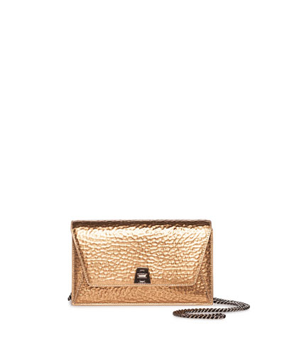 Anouk Mini Envelope Hammered Crossbody Bag