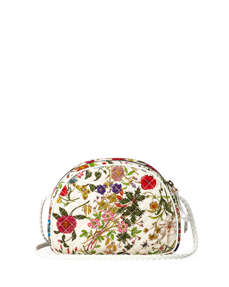 Gucci Small Trapuntata Floral Quilted Crossbody Bag - White In White Multi d76d180bef972