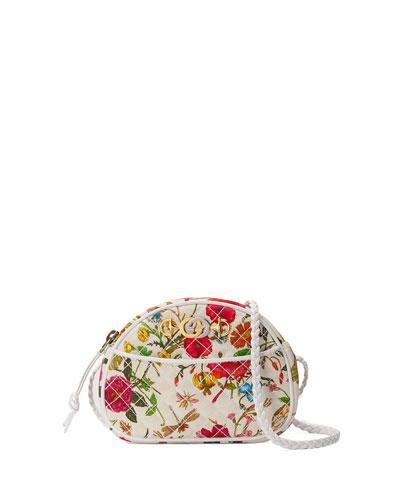 Trapuntata Floral Mini Crossbody Bag