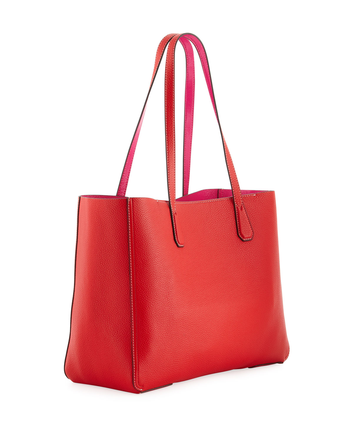 2381504cac Tory Burch Phoebe Leather Tote Bag   Neiman Marcus