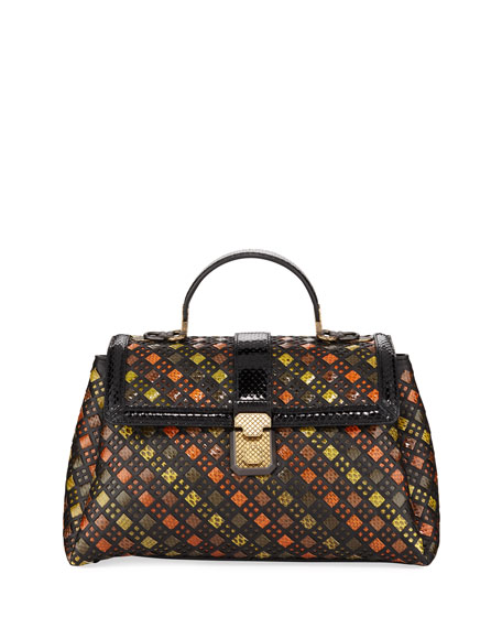 Bottega Veneta Stained Glass Piazza Medium Intrecciato Top-Handle