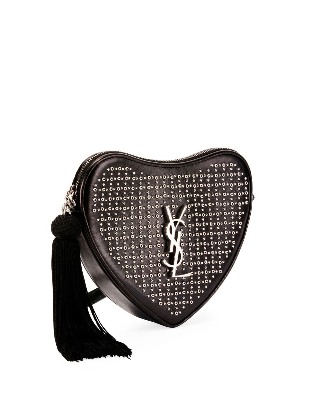 Saint Laurent Sac Coeur Small Heart Crossbody Bag
