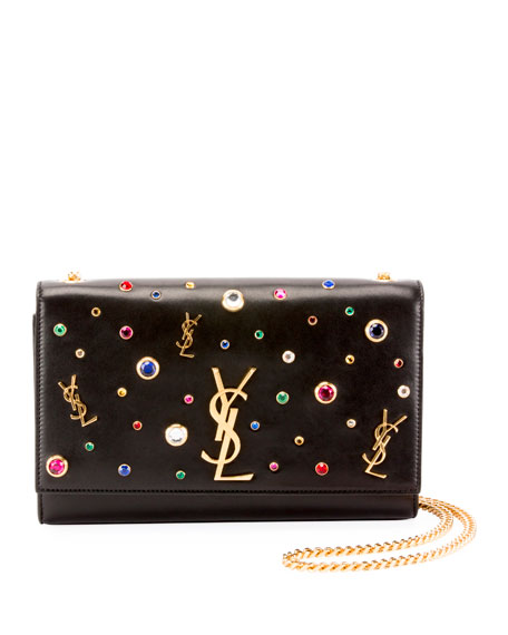 Kate Monogram YSL Medium Jewel-Stud Chain Shoulder Bag