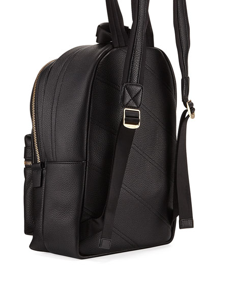 Medium Pebbled Leather Backpack