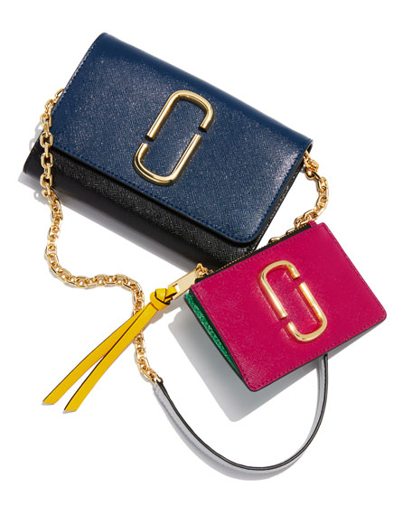 Colorblock Crossbody Wallet On Chain
